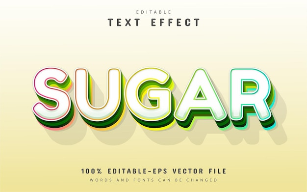 Sugar text, editable 3d text effect