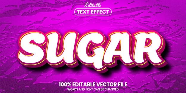 Сахарный текст, редактируемый текстовый эффект в стиле шрифта