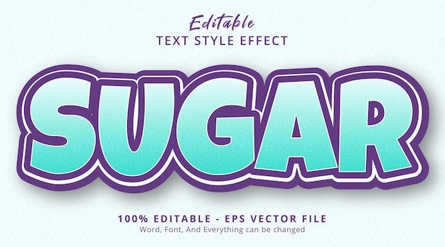 Сахарный текст на светлом цветовом эффекте стиля градиента, редактируемый текстовый эффект