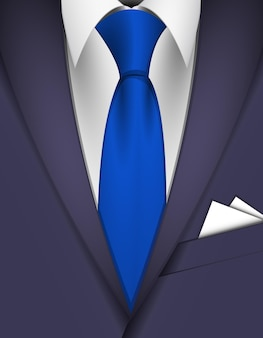 Костюм и синий галстук