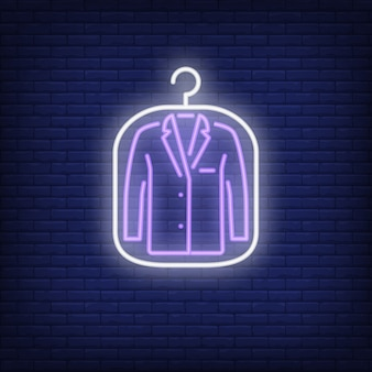 Suit jacket in cover neon sign
