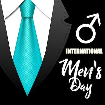 Suit and tie for the international men's day