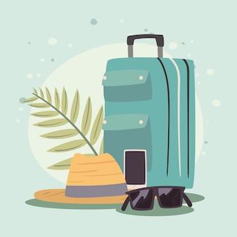 Чемодан и путешествия набор иконок