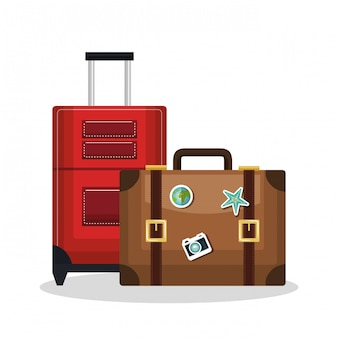 Suitcase bags isolated icon