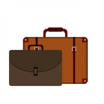 Suitcase and business briefcase