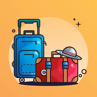 Suitcase and cap icon