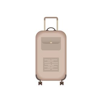 Suitcase icon. travel equipment. voyage bag isolated
