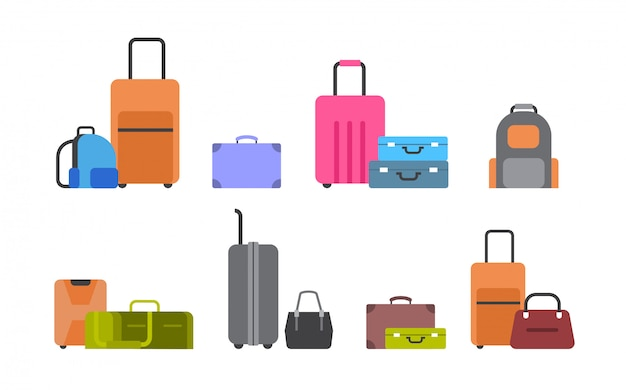 Suitcases, bags and backpacks