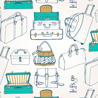 Suitcases pattern design