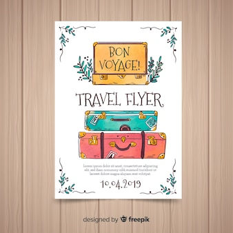 Suitcases travel flyer