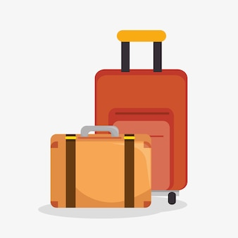 Suitcases travel isolated icon vector illustration design