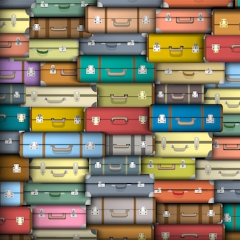 Suitcases, vector background