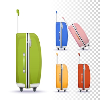 Suitcases with roller system