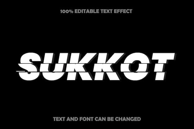 Sukkot editable text effect modern style