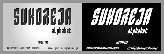 Сукореджа, абстрактный современный сжатый алфавит с шаблоном городского стиля