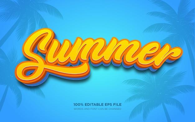 Summer 3d editable text style effect