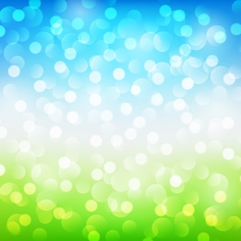 Summer abstract background with bokeh. vector illustration