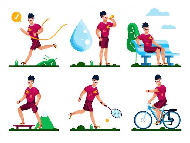 Summer active recreation set