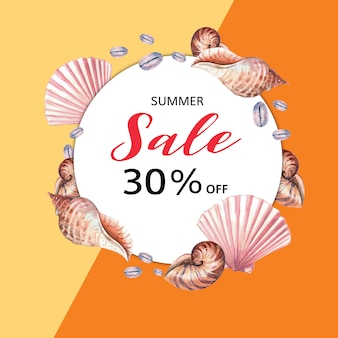 Summer advertising  holiday. promote on sale discount.