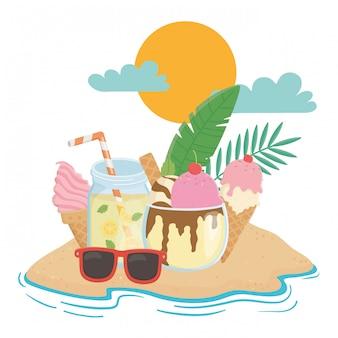 Лето и каникулы с мороженым