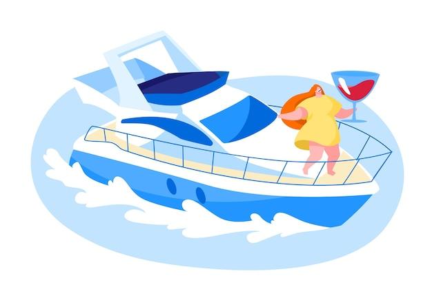 夏の休暇の夏の水生ツアーのコンセプト