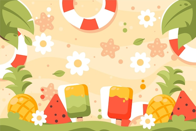 Summer background colorful concept