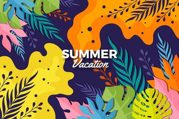 夏の背景のカラフルなデザイン