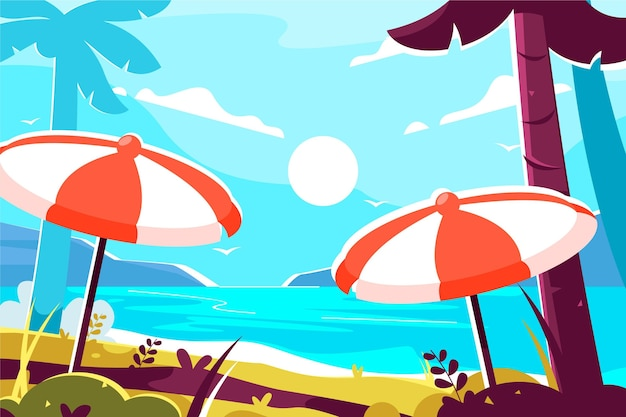 Summer background colorful theme