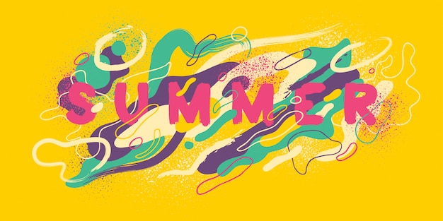 여름 배경 디자인