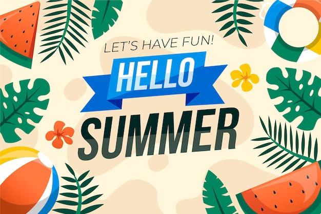 Summer background flat design