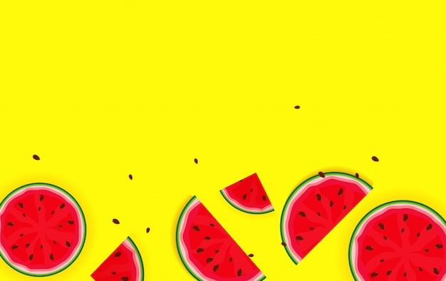 Summer background from watermelon. vector illustration