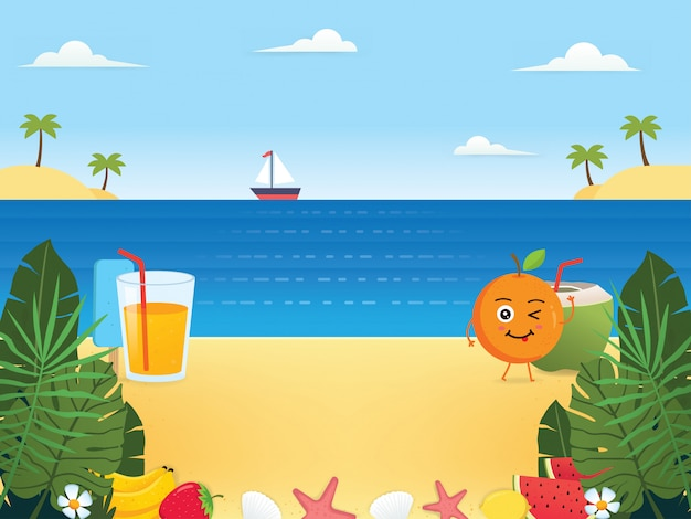Summer background illustrations