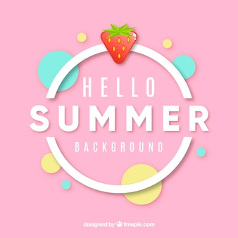 Summer background in flat style