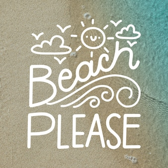 Summer background lettering with picture
