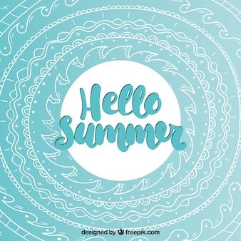 抽象的な図面と夏の背景