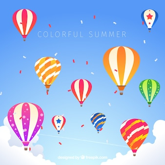 Summer background with balloons
