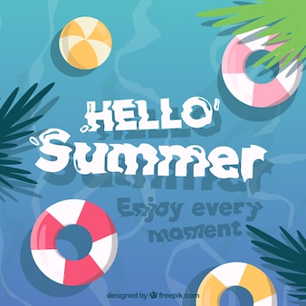 Summer background with beach elements