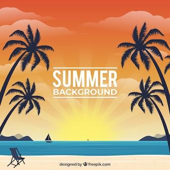 Summer background with beach