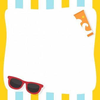 Summer background with copyspace