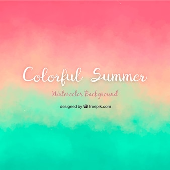 Summer background with gradient