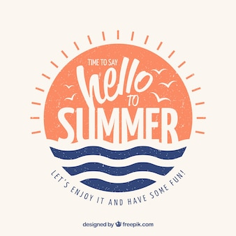 Summer background with lettering