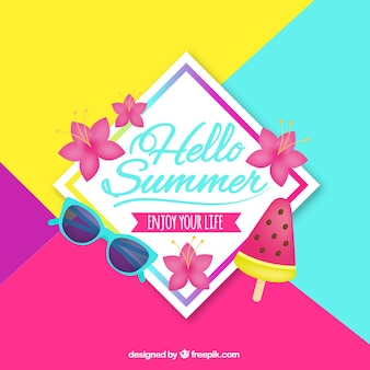Summer background with lovely style