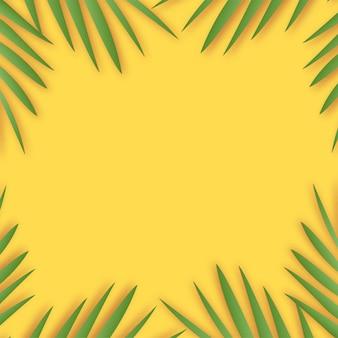 熱帯の葉の影と夏の背景。ベクター。