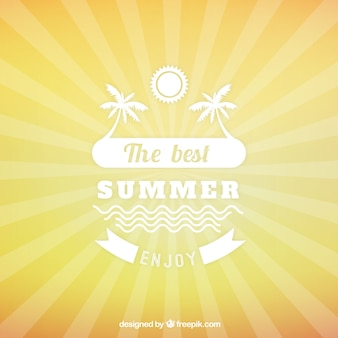 Summer background with suburst
