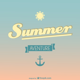 Summer background with a sun and an anchor