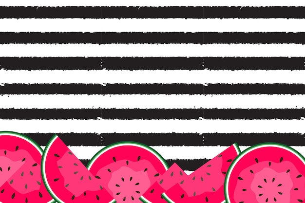 Summer background with watermelons