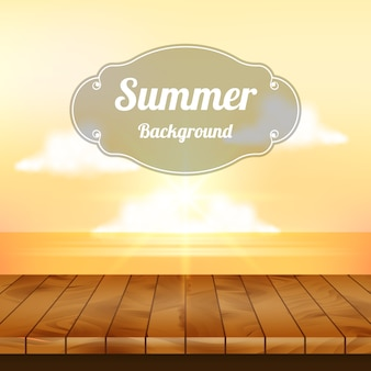 Summer backgroundwith sunset design
