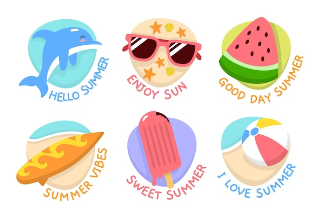 Summer badges collection