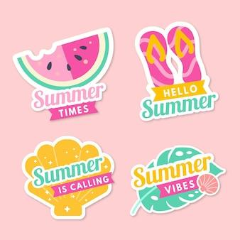 Summer badges in flat design