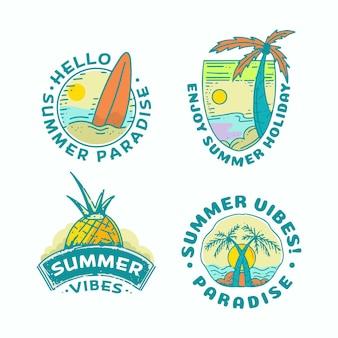 Summer badges set